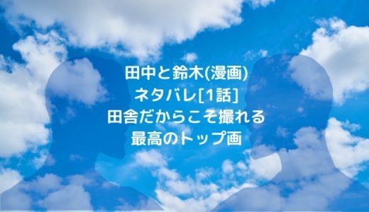 田中と鈴木(漫画) ネタバレ[1話]田舎だからこそ撮れる最高のトップ画