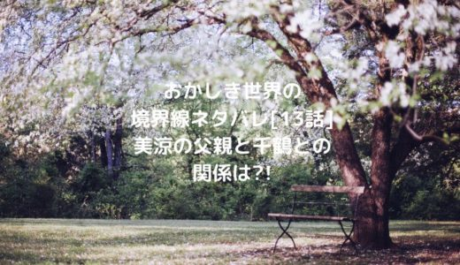 おかしき世界の境界線ネタバレ[13話]美涼の父親と千鶴との関係は?!