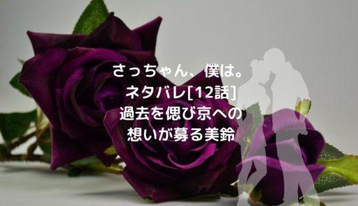 さっちゃん、僕は。ネタバレ[12話]過去を偲び京への想いが募る美鈴