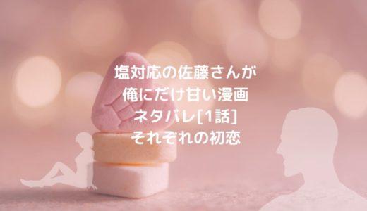 塩対応の佐藤さんが俺にだけ甘い(漫画)ネタバレ[1話]それぞれの初恋