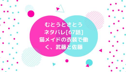 むとうとさとうネタバレ[67話]猫メイドの衣装で働く、武藤と佐藤