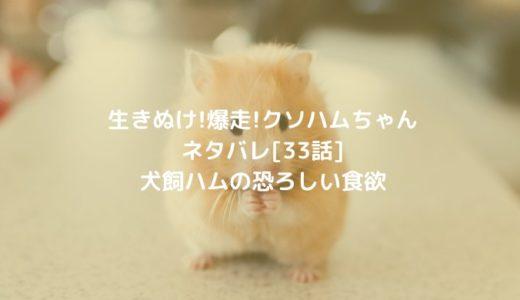 生きぬけ!爆走!クソハムちゃんネタバレ[33話]犬飼ハムの恐ろしい食欲
