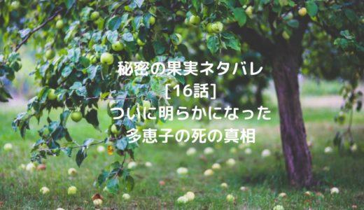 秘密の果実ネタバレ [16話]ついに明らかになった多恵子の死の真相
