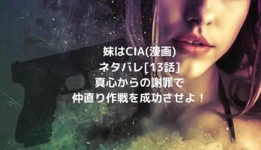 妹はCIA(漫画)ネタバレ[13話]真心からの謝罪で仲直り作戦を成功させよ!
