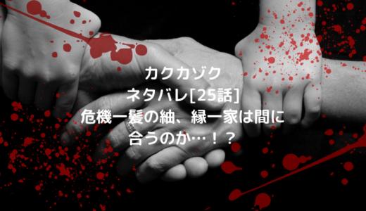 カクカゾクネタバレ[25話]危機一髪の紬、縁一家は間に合うのか…!?